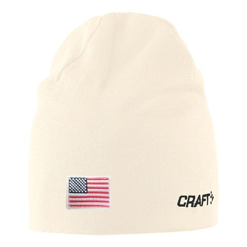 Craft RACE Hat w flag Headwear - White S/M