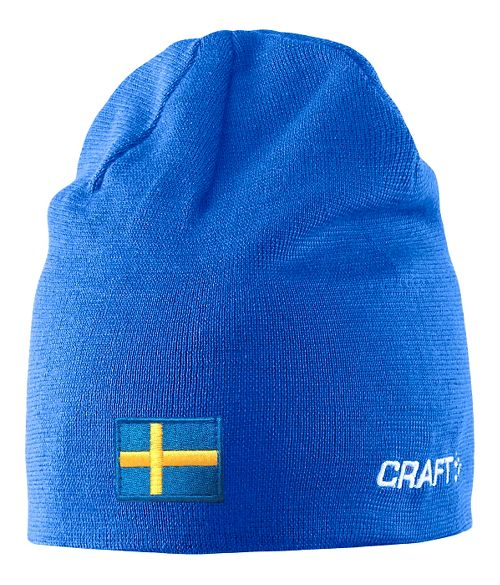 Craft RACE Hat w flag Headwear - Sweden Blue L/XL