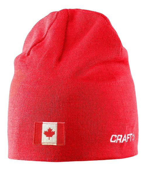 Craft RACE Hat w flag Headwear - Bright Red S/M