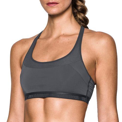 Womens Under Armour Mid Breathe Sports Bras - Rhino Grey S