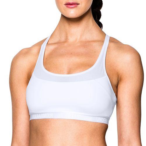 Womens Under Armour Mid Breathe Sports Bras - White M