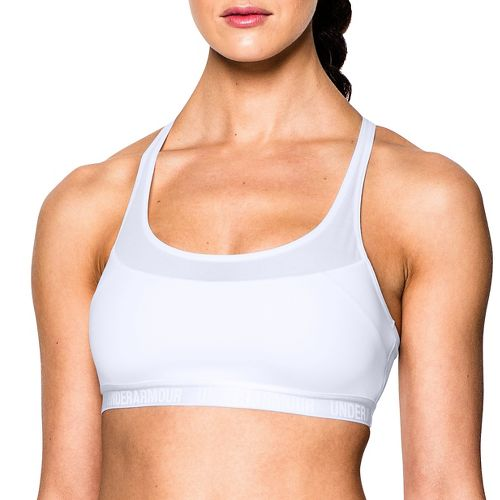 Womens Under Armour Mid Breathe Sports Bras - White L