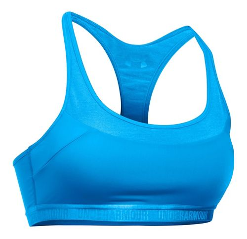 Womens Under Armour Mid Breathe Sports Bras - Water XL