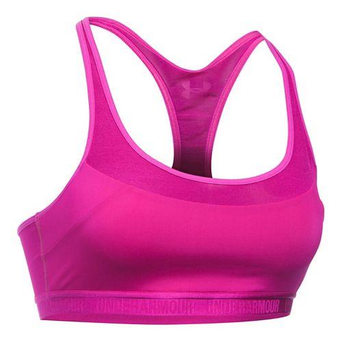 Womens Under Armour Mid Breathe Sports Bras - Magenta Shock L