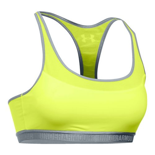 Womens Under Armour Mid Breathe Sports Bras - X-Ray/Steel L