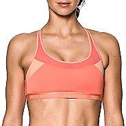 Womens Under Armour Mid Breathe Sports Bras - Orange/Peach S