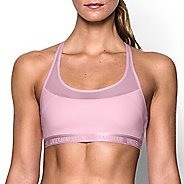 Womens Under Armour Mid Breathe Sports Bras - Petal Pink S