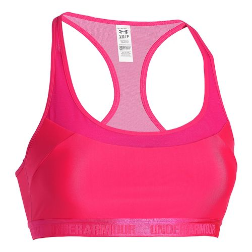 Womens Under Armour Mid Breathe Sports Bras - Harmony Red M