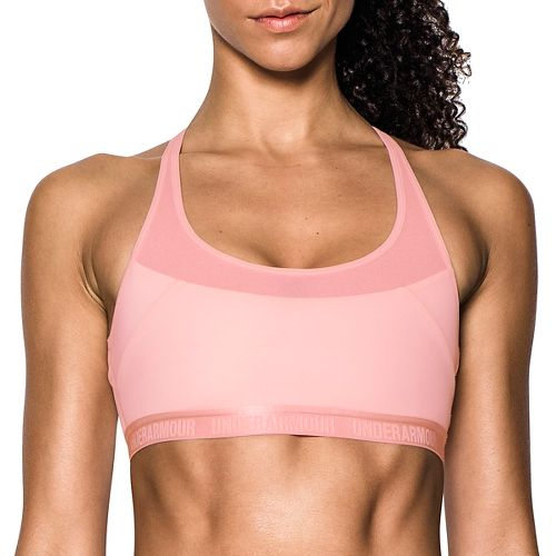Womens Under Armour Mid Breathe Sports Bras - Ballet Pink XL