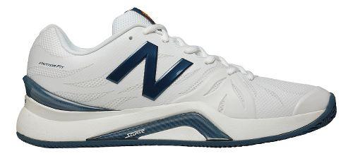 Mens New Balance 1296v2 Court Shoe - White/Blue 12.5