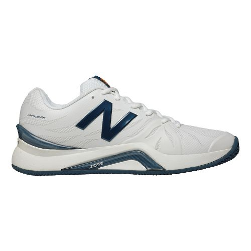 Mens New Balance 1296v2 Court Shoe - White/Blue 11.5