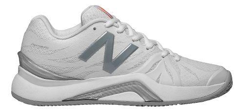 Womens New Balance 1296v2 Court Shoe - White/Icarus 7.5