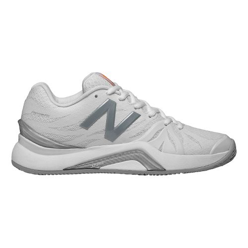 Womens New Balance 1296v2 Court Shoe - White/Icarus 6.5
