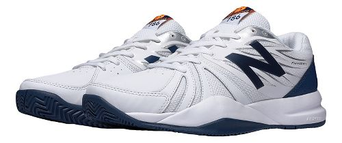 Mens New Balance 786v2 Court Shoe - White/Blue 8