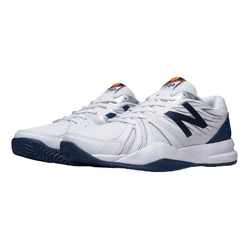 Mens New Balance 786v2 Court Shoe - White/Blue 12.5
