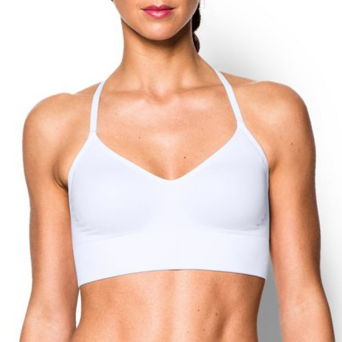 Womens Under Armour Seamless with Cups Sports Bras - White XS
