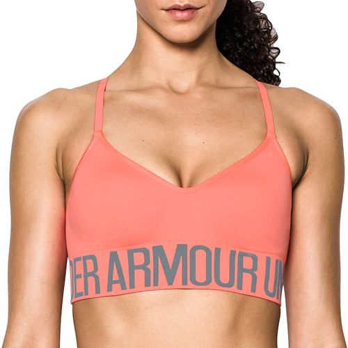 Womens Under Armour Seamless with Cups Sports Bras - London Orange S