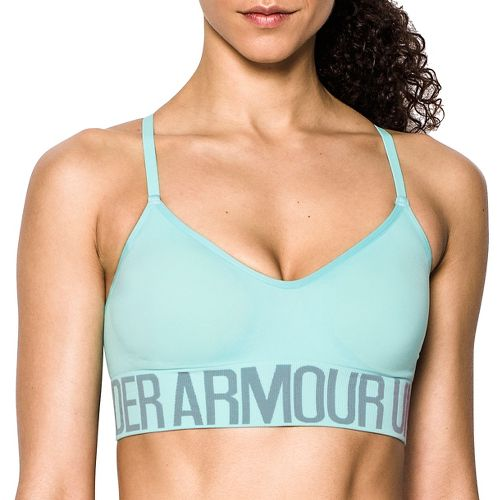 Womens Under Armour Seamless with Cups Sports Bras - Blue Infinity M