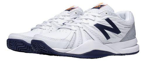 Womens New Balance 786v2 Court Shoe - White/Blue 5