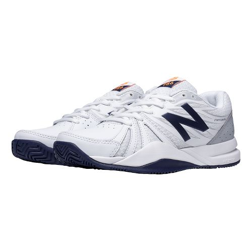 Womens New Balance 786v2 Court Shoe - White/Blue 7.5