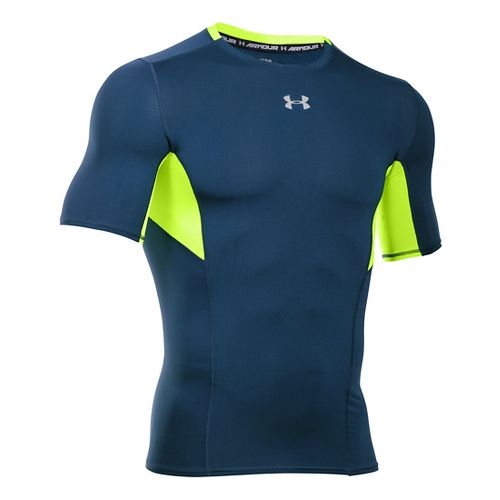 Mens Under Armour HeatGear CoolSwitch Compression Short Sleeve Technical Tops - Blackout ...