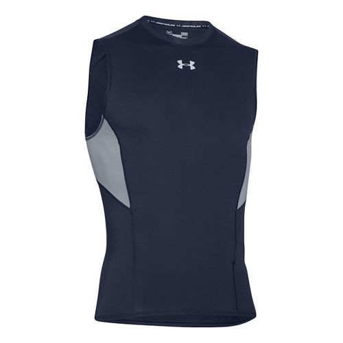 Mens Under Armour HeatGear CoolSwitch Compression Sleeveless & Tank Technical Tops - Midnight ...
