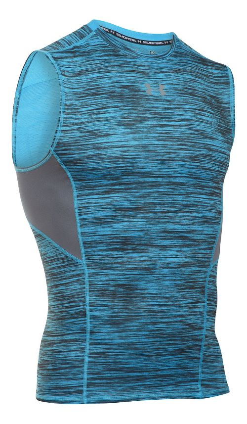 Mens Under Armour HeatGear CoolSwitch Compression Sleeveless & Tank Technical Tops - Meridian ...
