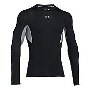 Mens Under Armour HeatGear CoolSwitch Compression Shirt Long Sleeve Technical Tops - Black M