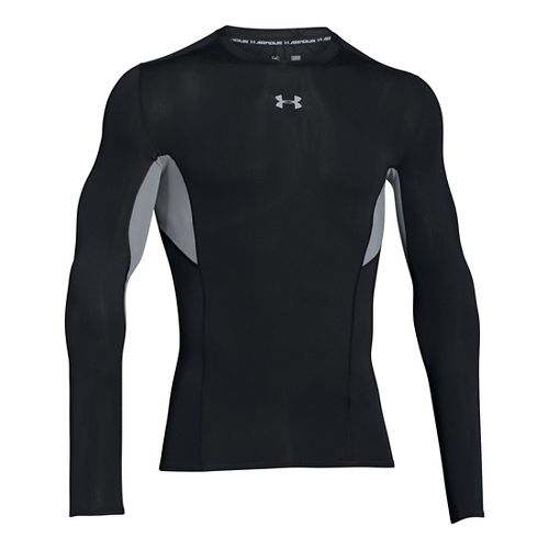 Mens Under Armour HeatGear CoolSwitch Compression Shirt Long Sleeve Technical Tops - Graphite XL