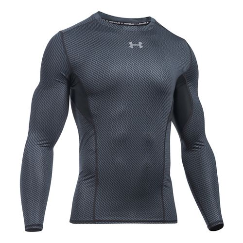 Mens Under Armour HeatGear CoolSwitch Compression Shirt Long Sleeve Technical Tops - Stealth ...
