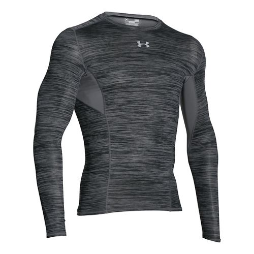 Mens Under Armour HeatGear CoolSwitch Compression Shirt Long Sleeve Technical Tops - Black L