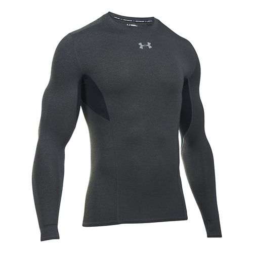 Mens Under Armour HeatGear CoolSwitch Compression Shirt Long Sleeve Technical Tops - Carbon ...