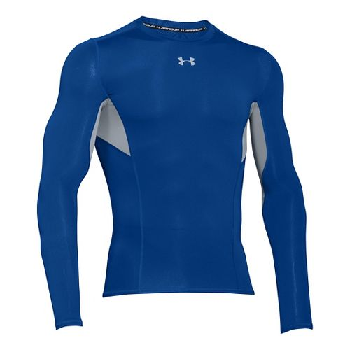 Mens Under Armour HeatGear CoolSwitch Compression Shirt Long Sleeve Technical Tops - Royal XL