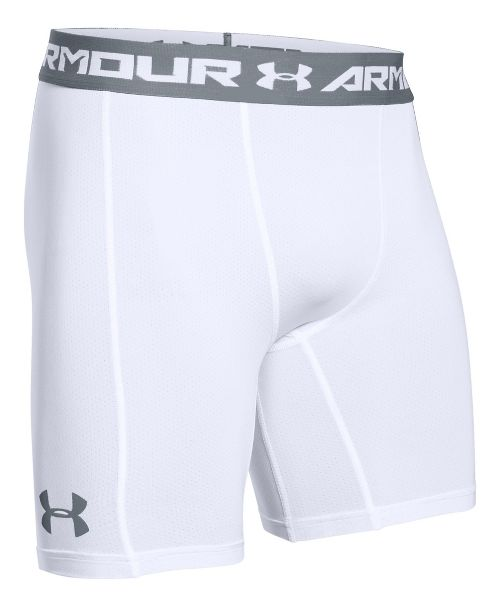 Mens Under Armour HeatGear CoolSwitch Compression & Fitted Shorts - White XL