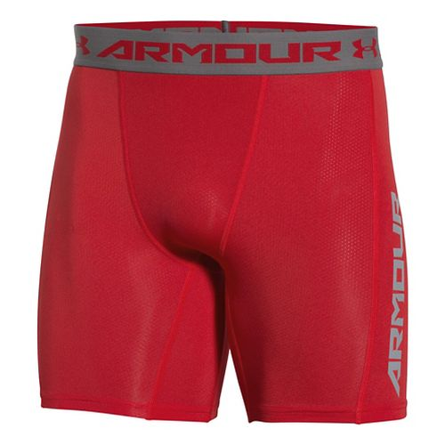 Mens Under Armour HeatGear CoolSwitch Compression & Fitted Shorts - Red XL