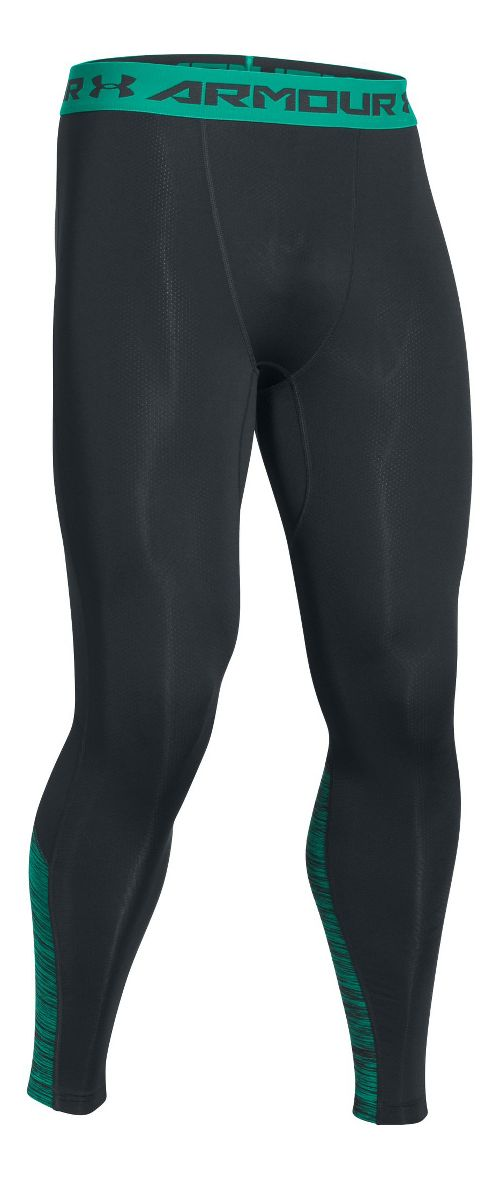 Mens Under Armour HeatGear CoolSwitch Compression Tights & Leggings Pants - Anthracite L