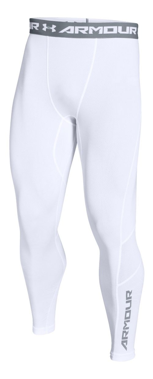 Mens Under Armour HeatGear CoolSwitch Compression Tights & Leggings Pants - White XXL