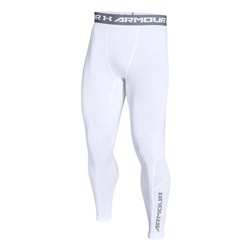 Mens Under Armour HeatGear CoolSwitch Compression Tights & Leggings Pants - White S