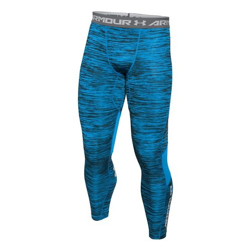 Mens Under Armour HeatGear CoolSwitch Compression Tights & Leggings Pants - Electric Blue L