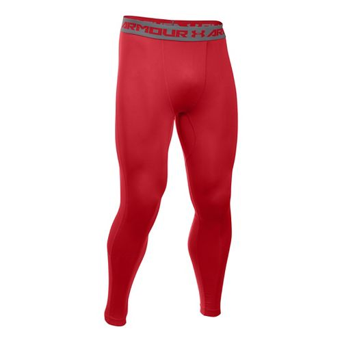 Mens Under Armour HeatGear CoolSwitch Compression Tights & Leggings Pants - Red XXL