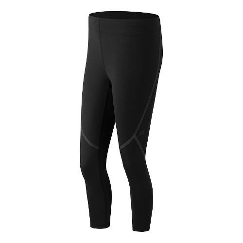 Womens New Balance Trinamic Crop Capris Pants - Black 2X