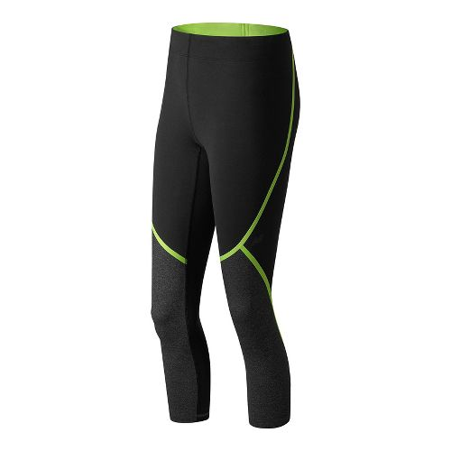 Womens New Balance Trinamic Capris Pants - Lime Glow S