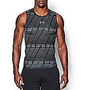 Mens Under Armour HeatGear Armour Printed Compression Sleeveless & Tank Technical Tops