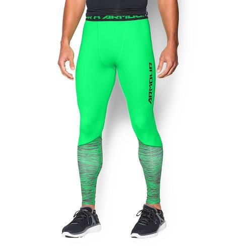 Mens Under Armour HeatGear Armour Twist Flight Tights & Leggings Pants - Laser Green XXL ...