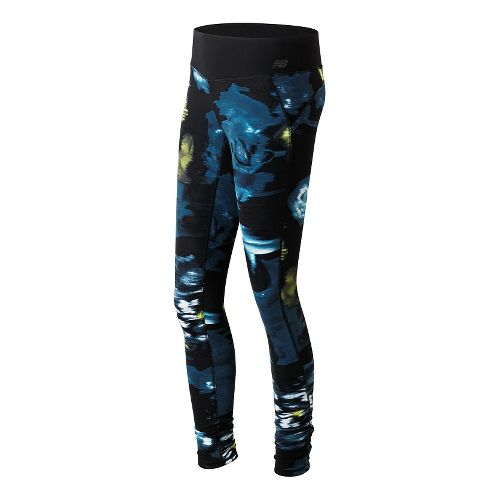 Womens New Balance Premium Performance Print Tights & Leggings Pants - Urban Floral Print L ...