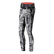Womens New Balance Premium Performance Print Tights & Leggings Pants