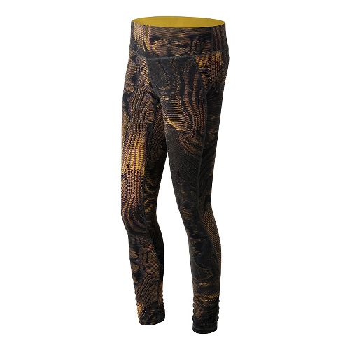 Womens New Balance Premium Performance Print Tights & Leggings Pants - Digital Moire Print L ...
