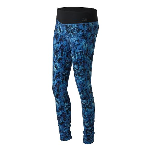 Womens New Balance Premium Performance Print Tights & Leggings Pants - Majestic Feather M
