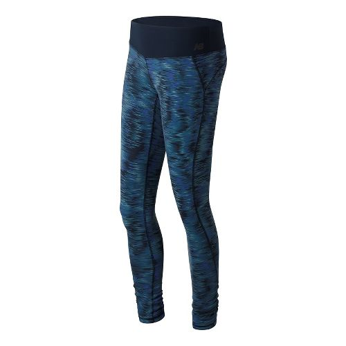 Womens New Balance Premium Performance Print Tights & Leggings Pants - Galaxy Ikat Print XL ...
