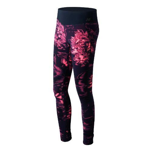 Womens New Balance Premium Performance Print Tights & Leggings Pants - Guava Urban Floral L ...